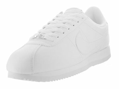 Metallic White (Nike Cortez Basic Leather White/White-Wolf Grey-Metallic Silver (819719)