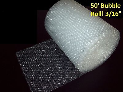 "50 Foot Bubble Wrap® Roll! 3/16"" (Small) Bubbles! 12"" Wide! Perforated Every 12"""