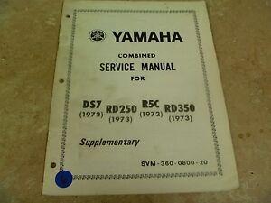 yamaha rd350 manual ebay rh ebay com yamaha rd 350 service manual pdf yamaha rd 350 service manual download
