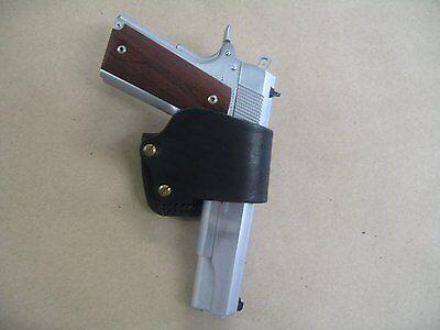 Colt 1911, Springfield, Kimber, Taurus 1911 Leather Belt Slide Holster Black USA