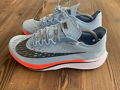 61b7b561e2875 New AUTHENTIC Nike Zoom Vaporfly 4% Size 11.5 Ice Blue Blue Fox Running  Shoes