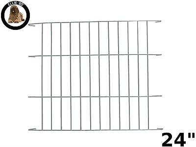 Ellie-Bo Divider For Dog Crate Cage, Small, 24-Inch, Silver