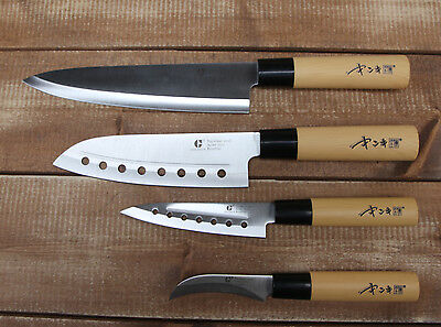 4pcs Chef Knives set Cutlery Knife Japanese Kitchen Sashimi Fruit Bone couteau