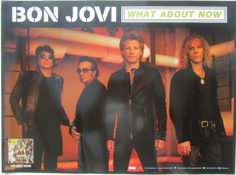 """BON JOVI """"WHAT ABOUT NOW"""" PROMO POSTER FROM THAILAND - Group Standing Together"""