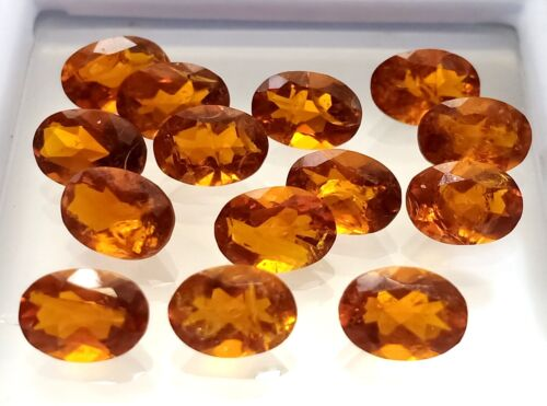 100% Natural Reddish Hessonite Oval Cut Stone 9.70 Ct AAA+Quality Loose Gemstone