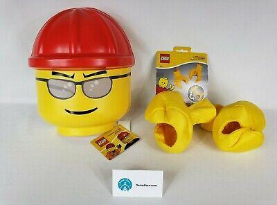 Lego Halloween Bundle ~ Construction Worker Child Mask & Minifigure Hands