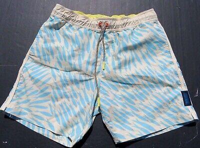 9adcd4bdf6 Mens DEPACTUS Mayday Fish Yellow Drawstring Board Shorts Swim Trunks Medium