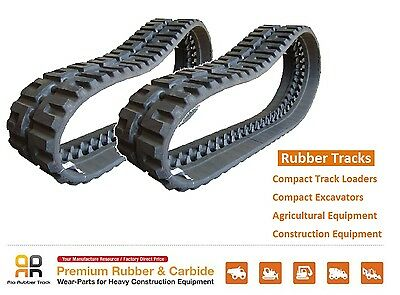 2pc Rubber Track 320x86x50 Case 420ct Tr270 Jcb 180t Skid Steer Loader