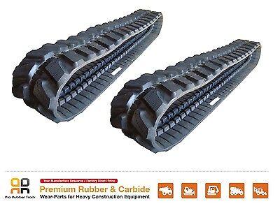 2pc Rubber Track 450x81x74 Kobelco Sk 75ur-1 Mini Excavator