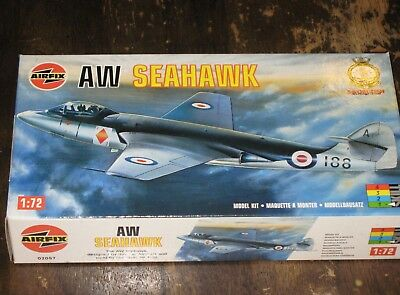 "AIRFIX 02097 ""Armstrong Whittley"" SEAHAWK Carrier Fighter 1/72 Model Kit"
