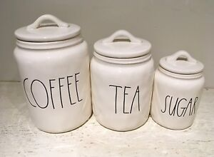⭐⭐⭐RAE DUNN BRAND NEW SET OF COFFEE,TEA,AND SUGAR CANISTERS⭐⭐
