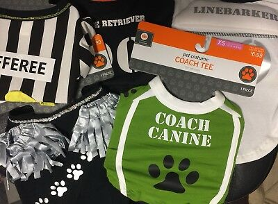 XL Dog T-Shirt Costume Glow FOOTBALL Cheerleader Coach Player Linebacker