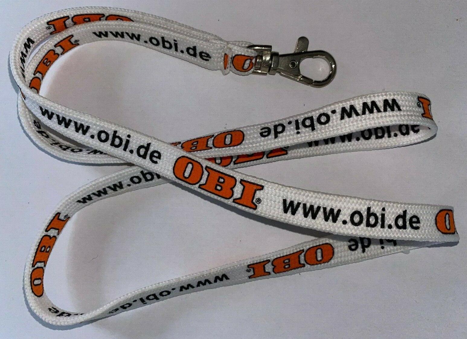 OBI Baumarkt Schlüsselband Lanyard NEU (E1v)