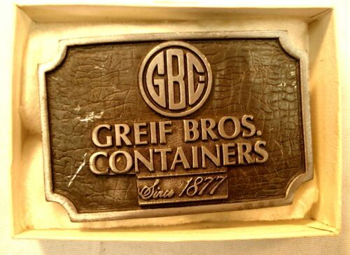 GREIF BROS CONTAINERS METAL BELT BUCKLE IN BOX