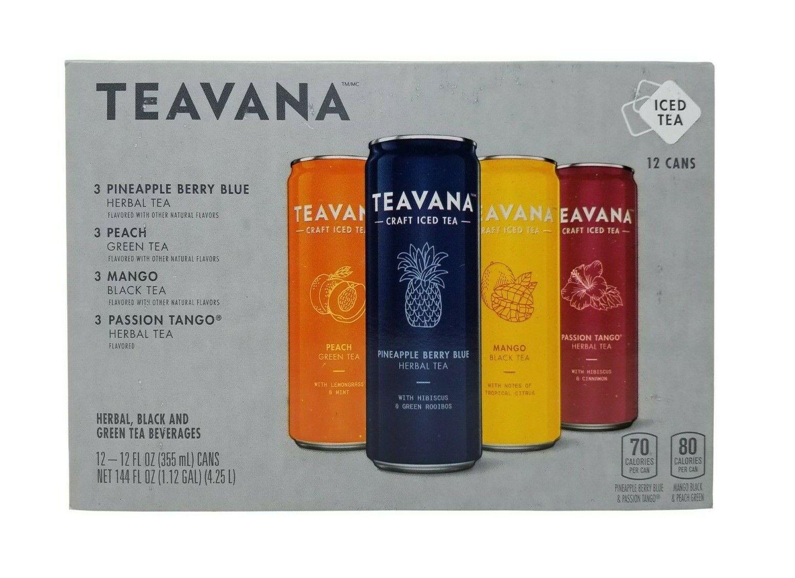 Teavana Craft Iced Tea, Pineapple Berry Blue Herbal Tea, Pea