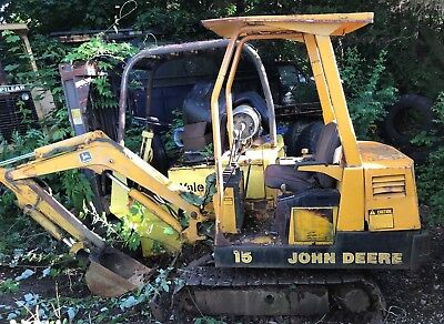 John Deere 15 Mini Hydraulic Excavator With Yanmar Diesel Engine . 1959 Hrs