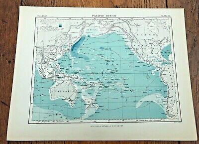 circa 1880s colour map of the pacific ocean !  ( adam & charles black )