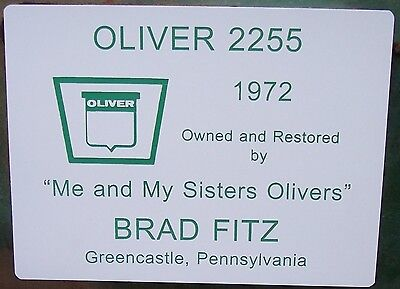 Engraved Sign For Your Antique Tractor Jd Farmall Case Oliver More