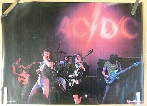 VERY RARE AC/DC BON SCOTT STAGE 1980 VINTAGE ORIGINAL MUSIC POSTER