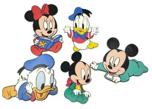 Vintage Disney Babies Nursery Room Wall Hangings Mickey Minnie Donald Daisy