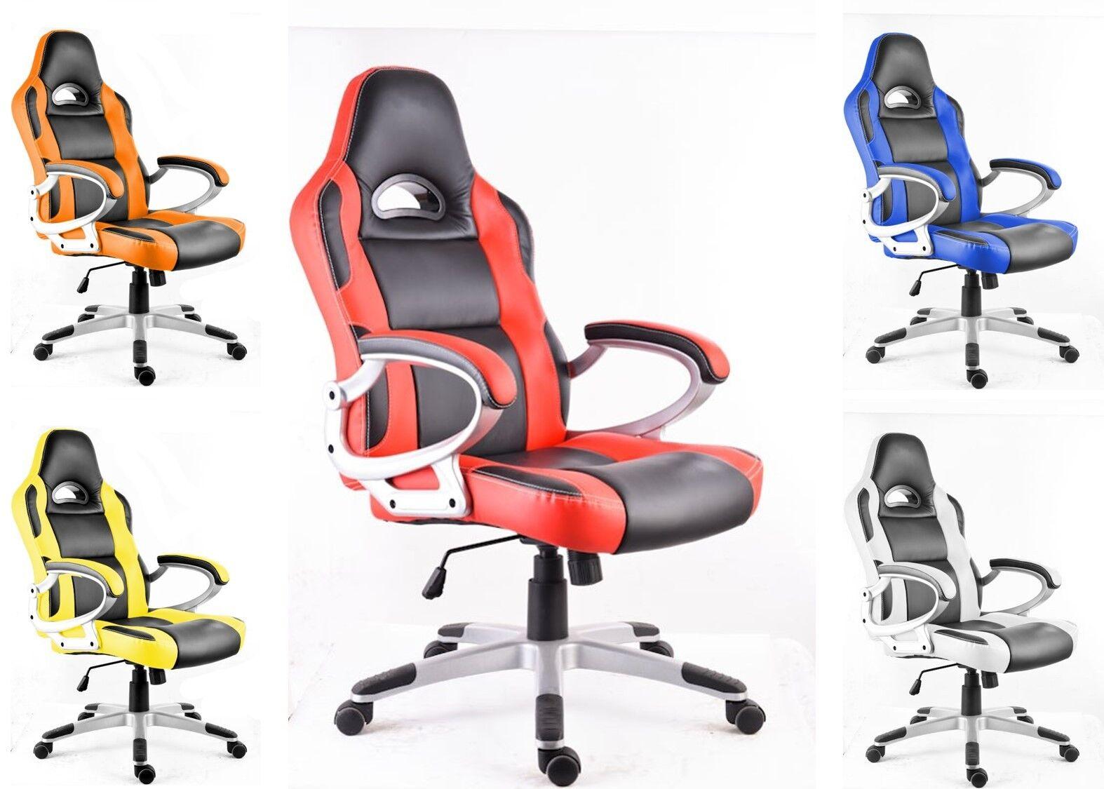 MON Poltrona sedia per ufficio presidenziale studio x pc scrivania gaming racing