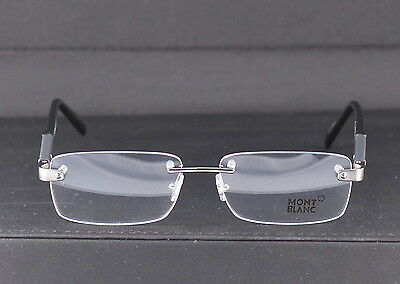 New Authentic Mont Blanc Rimless Optical Frame MB 0617/V 008 56mm w/Case Italy