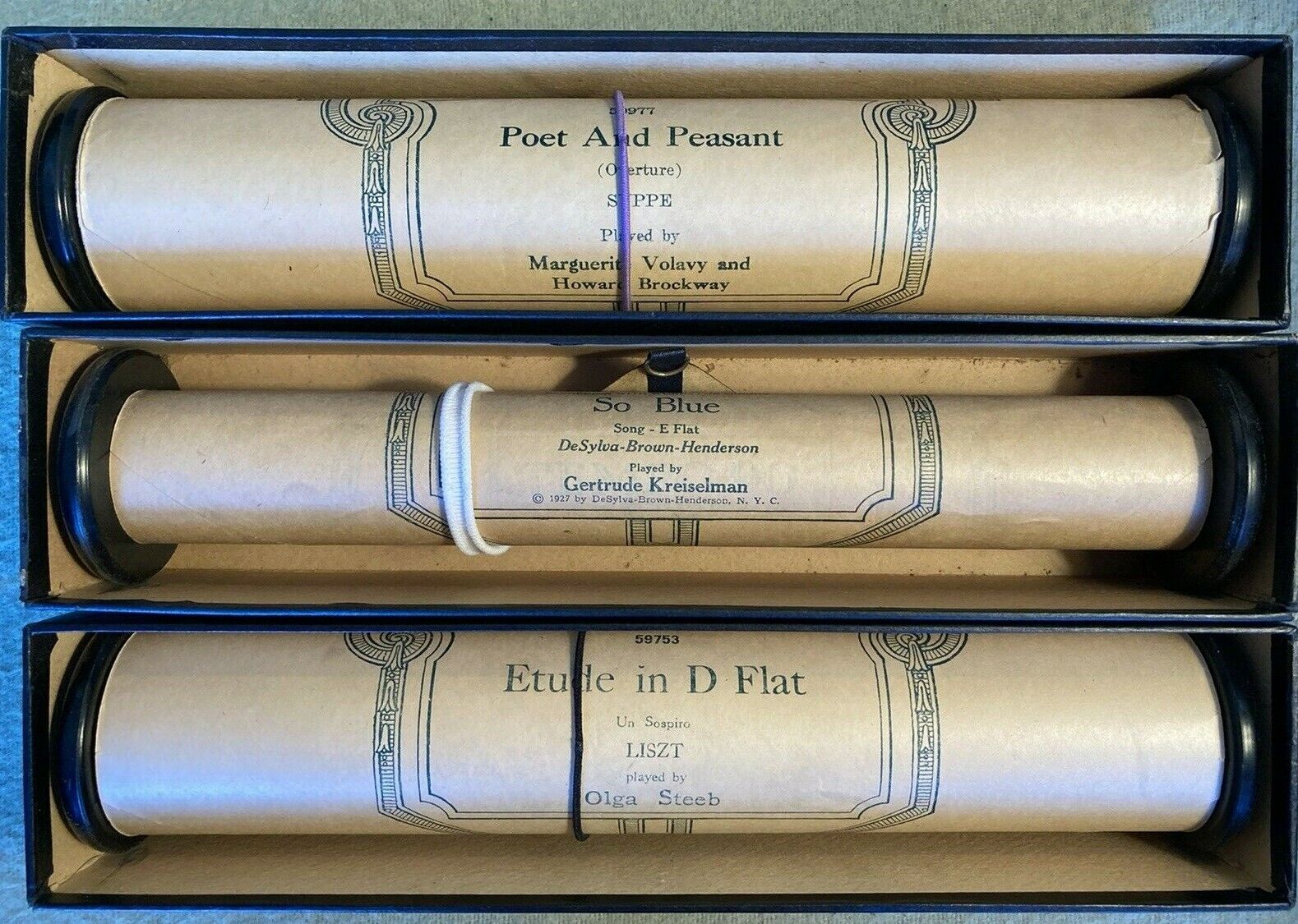 Vintage Ampico Player Piano Rolls, Previously Played - Bundle Of 3 Rolls - $31.78