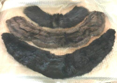 3 Vintage Fur Collars - different sizes
