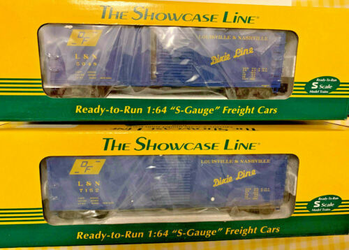 AMERICAN FLYER by S-HELPER, L&N Dixie Line (#1 and #2) BOXCARS...MINT IN BOX!