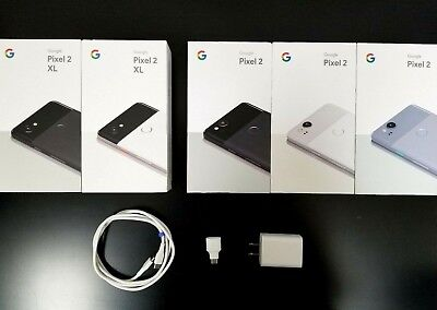 Google Pixel 2 2XL Box with Accessories Included Original Retail Packaging OEM