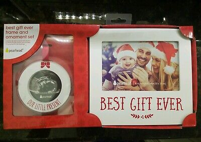 Picture frame Best Gift Ever Christmas family baby ornament xmas set present