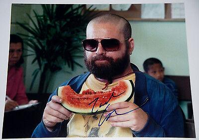 Zach Galifianakis Signed 11X14 Photo Hangover 2 Alan Garner Eats Watermelon  Coa
