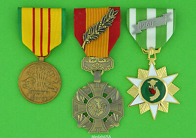 Republic Of Vietnam Gallantry Cross  Campaign And Service   Full Size Medals Ml