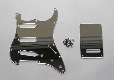 Silver Mirror SSS ST Style Guitar Pickguard Back Plate Screws fits Strat