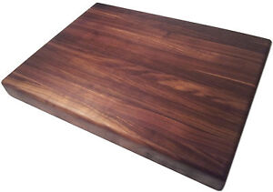 Walnut Butcher Block Cutting Board - Edge Grain - Chopping Block - Chef's Board
