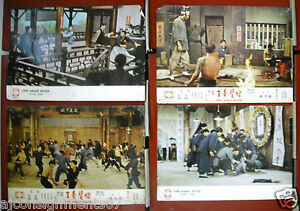 Set-of-4-One-Armed-Boxer-Yu-Wang-Kung-Fu-Hong-Kong-Lobby-Card-70s