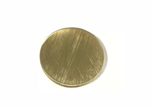 "1/4"" Brass 260 Plate Round Circle Disc 3"" Diameter (.25"")"