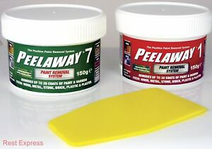 Peel Away Paint Removal Tester Pots Sample Pack 150g of each Peelaway 1 & 7