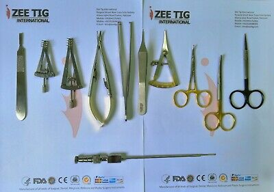 Plastic Surgery Instruments Set Reusable