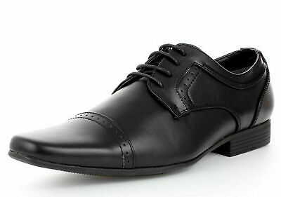 Mens Leather Formal Office Smart Casual Italian Lace Up Oxford Brogue Shoes Size