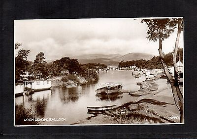 LOCH LOMOND, BALLOCH. UNPOSTED RP POSTCARD IN CALEDONIA SERIES