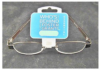 Strong +3.00 Strength Strength Foster Grant Women's Oval Reading Glasses Copper