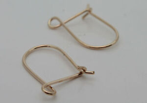 Pair of 9ct Yellow Gold Safety Hook Ear Wires Earrings