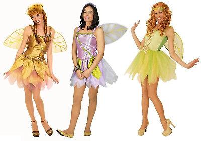 Feen Fee Elfe Tinkerbell Kostüm Kleid Elfen Damen Waldfee Feenkostüm Wald Hippy (Tinkerbell Kostüme Damen)
