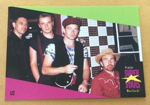 1991 Pro Set Super Stars Musicards U.K. Edition Trading Card #141 U2 NM-MT