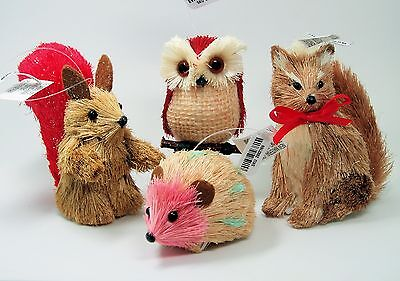 4 Valentines Day Ornaments Squirrel Owl Fox Hedgehog Pier 1 Imports Discontinued