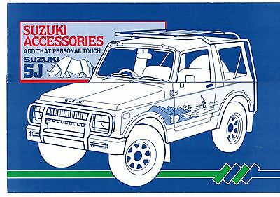 Suzuki SJ Accessories 1985-86 UK Market Foldout Sales Brochure