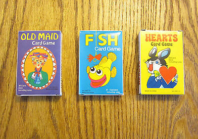 3 NEW DECKS OF KIDS CARD GAMES OLD MAID GO FISH AND HEARTS  PARTY FAVORS (Old Card Games)