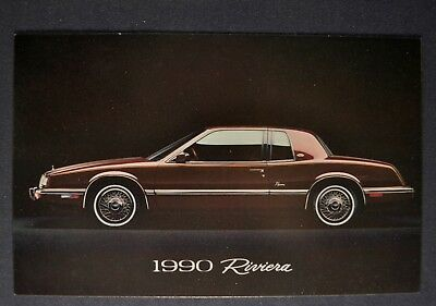 1990 Buick Riviera Postcard Brochure Excellent Original 90 ()