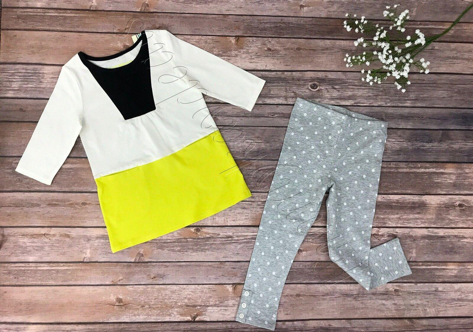 New Girls Kids Top Polka dot gray leggings  Genuine by Oshko